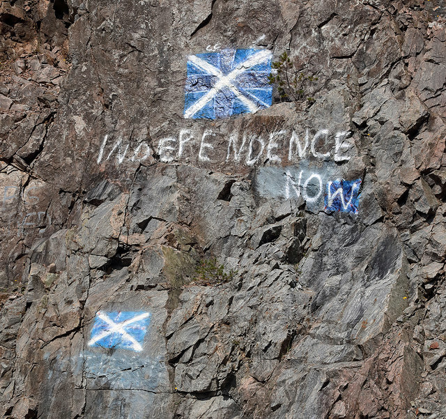 Scottish Independence graffiti