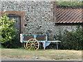 TG3432 : Small 2 wheeled barrow by Adrian S Pye