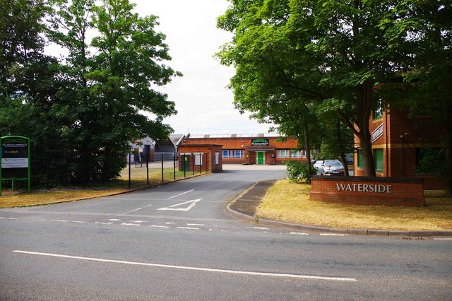 Entrance to Waterside, Harris Business Park, Hanbury Road, Stoke Prior, Worcs