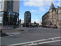 ST1875 : Crossroads in Cardiff city centre by Jaggery