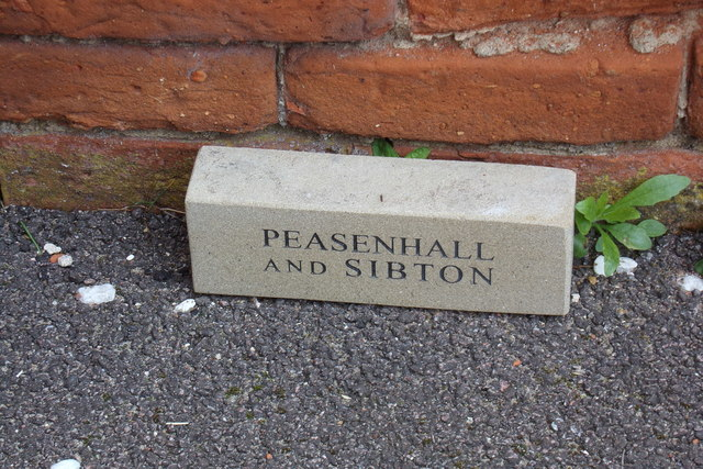 Commemorative Brick at the Peasenhall & Sibton Methodist Church