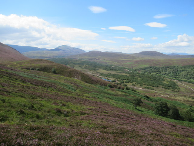 View south-west off slopes of Croidh-la in Glen Tromie, Aviemore