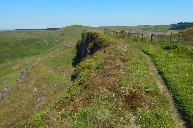 A path above one end of the crags