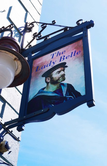 The Lady Belle (3) - sign, 13 Grattan Square, Dungarvan, Co. Waterford
