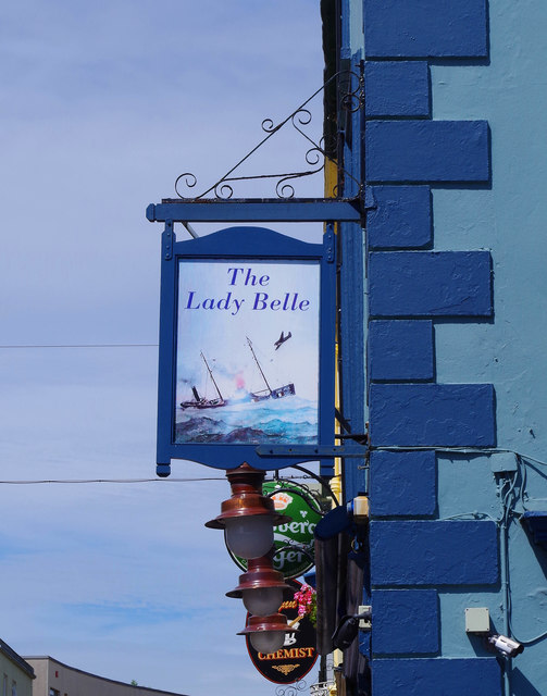 The Lady Belle (4) - sign, 13 Grattan Square, Dungarvan, Co. Waterford