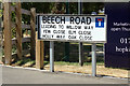 TM3962 : Beech Road sign by Adrian Cable