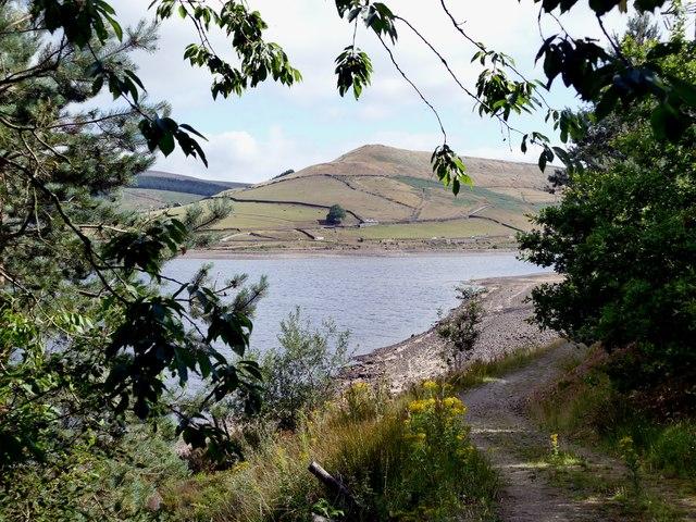 Woodhead Reservoir and Pikenaze Hill