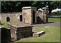 NS4643 : Sentry box beside gate, Fenwick Parish Church by Richard Sutcliffe