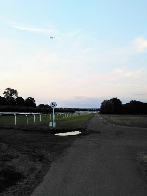 Low Plane over Lingfield Racecourse