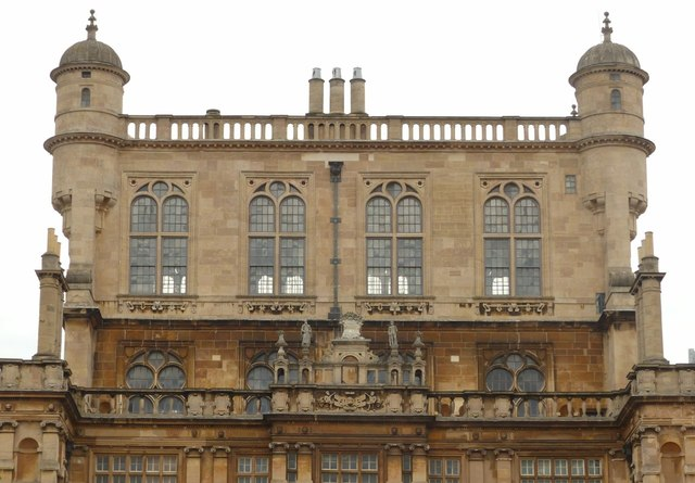Wollaton Hall, the central tower, south-east face