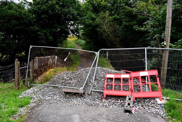 Road closed at Bancran