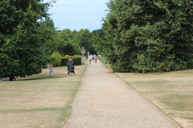 Path to walled garden, Polesden Lacey