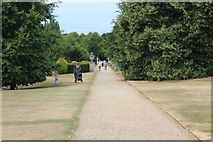 TQ1352 : Path to walled garden, Polesden Lacey by M J Roscoe