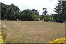 TQ1352 : Croquet lawn, Polesden lacey by M J Roscoe