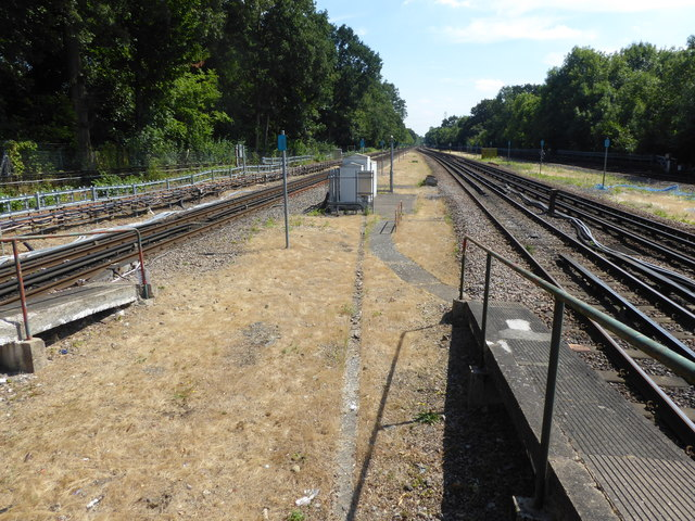 Looking south from Moor Park station