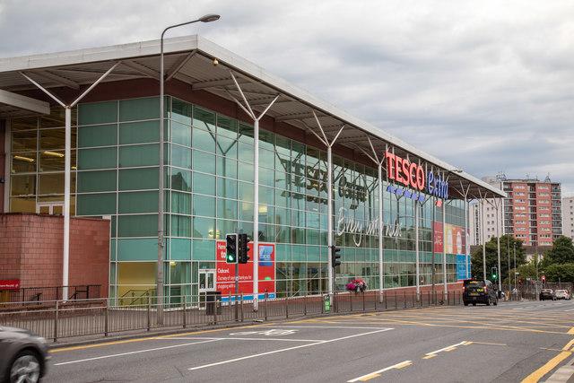 Tesco Extra store on Maryhill Road, Glasgow