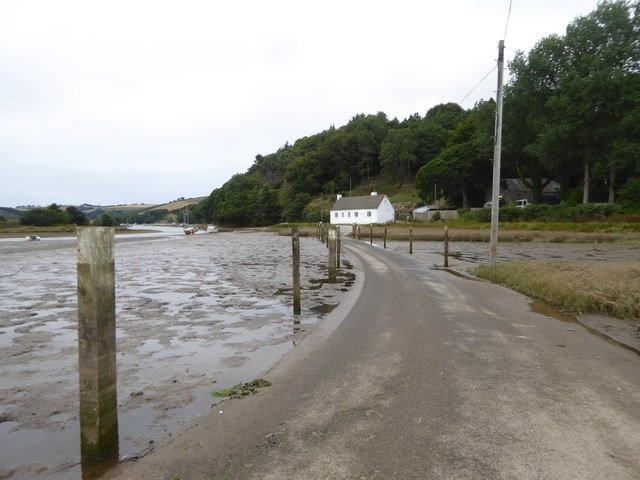The tidal road to North Efford