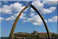 NZ8911 : Zoom shot of the Whalebone Arch, Whitby by Andrew Diack