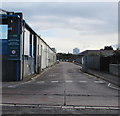 ST1675 : Cardiff Bus Head Office access road, Cardiff by Jaggery