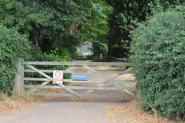 Gateway to Home Farm House, Polesden Lacey