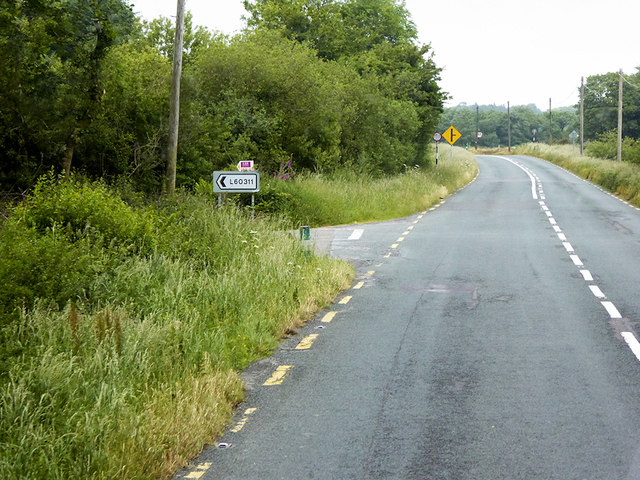 Minor Road Junction on the N71 north of Pedlars Cross Roads