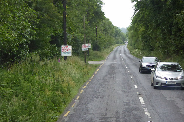 Westbound N71 in County Cork