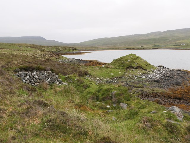 Ruined farmstead by Loch Seaforth/Loch Shiphoirt, Isle of Lewis