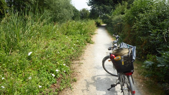 Bike on the canal towpath