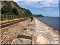 SX9473 : Railway and South West Coast Path, Teignmouth by David Dixon