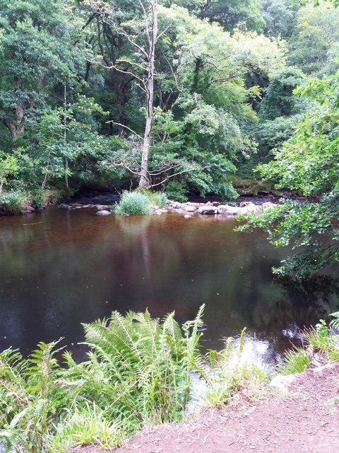 River Teign: towards Fingle Weir