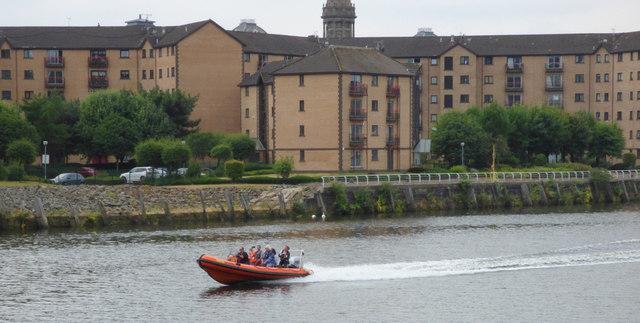 Fast RHIB on the Clyde in Glasgow