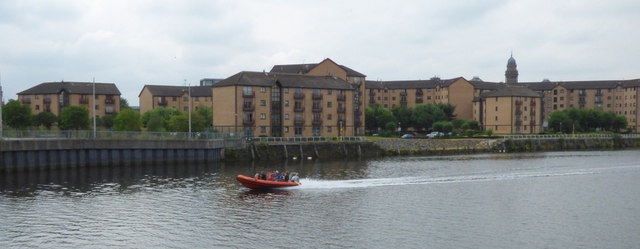 Fast RHIB on the Clyde in Glasgow