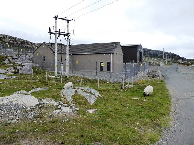 Electricity Sub-station just south of the A859