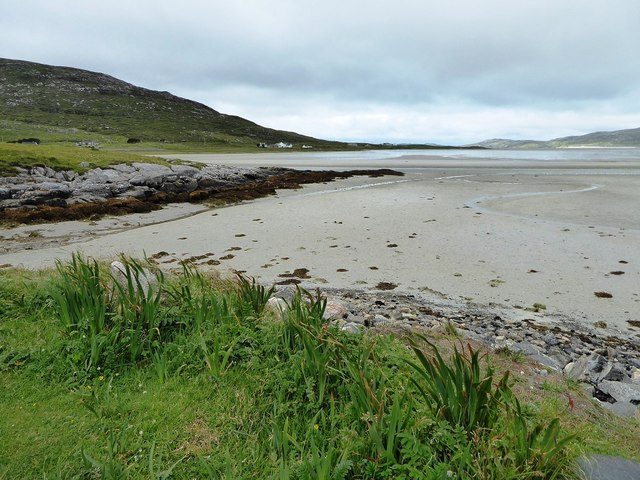 Traigh Losgaintir from a camping spot next to the A859