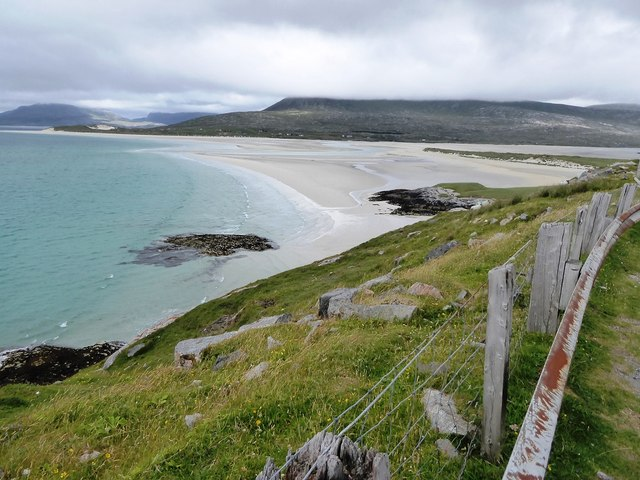 Steep slopes below A859 lay-by looking towards Traigh Sheileboist