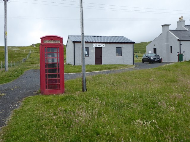 Sgarasta Post Office and phone box