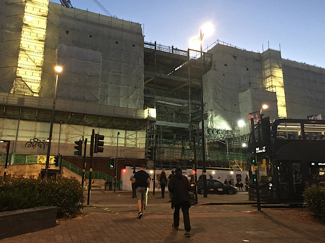 Former Pavilions shopping centre undergoing major works, Birmingham