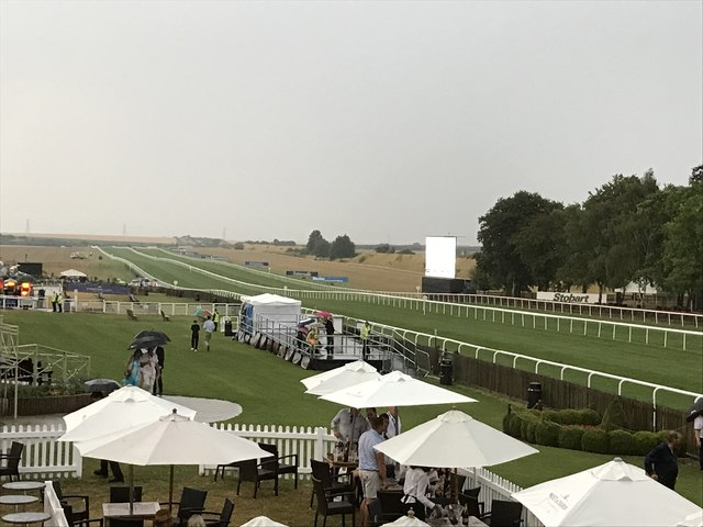 The July Course Newmarket during a thunderstorm