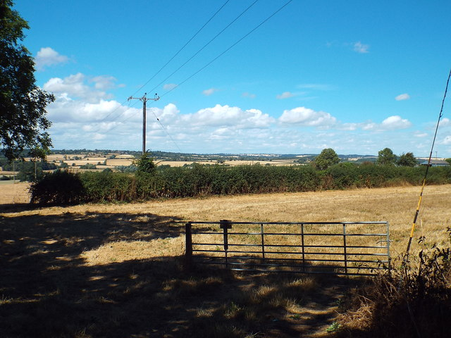 A view over fields near Pitsford, Northamptonshire