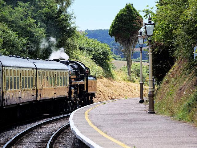 Steam Train Leaving Churston