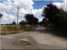 TL8526 : Entrance to Brecklands Farm by Adrian Cable