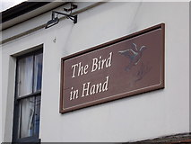TL8526 : The Bird in Hand Public House sign by Adrian Cable