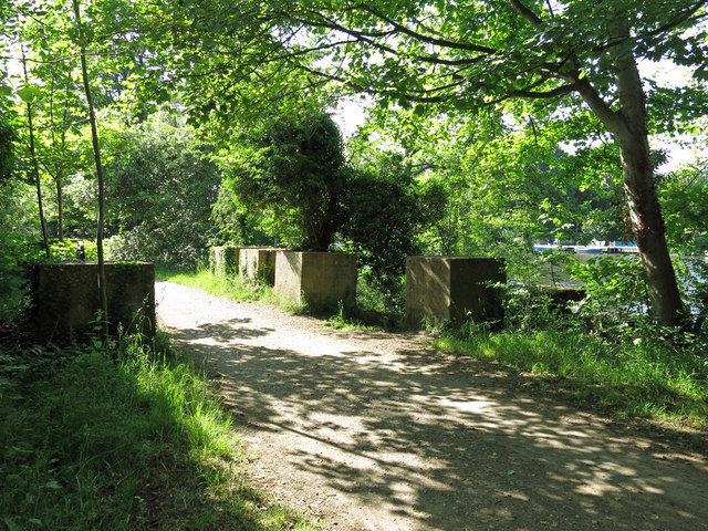 WWII concrete block tank traps on the Thames Path by Grand Junction Island (2)