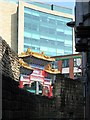 NZ2464 : Town Walls & Chinese Arch by Andrew Curtis