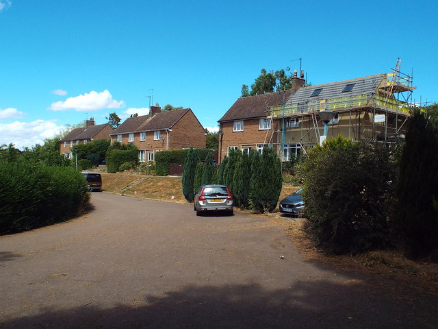 Houses at the end of Grange Lane, Pitsford