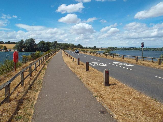 Causeway across Pitsford Water, Northamptonshire