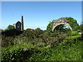 SW7044 : Wheal Peevor - remains of boiler house by Chris Allen