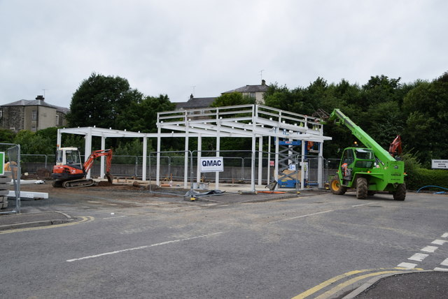 Steel-work, Sedan Avenue Retail Park, Omagh by Kenneth  Allen