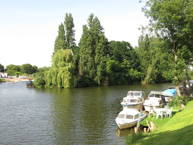 The River Thames and the western end of Platt's Eyot