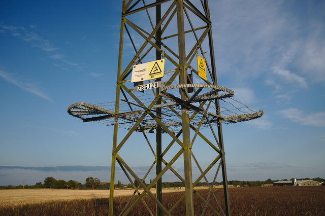 Warning notices on old Pylon